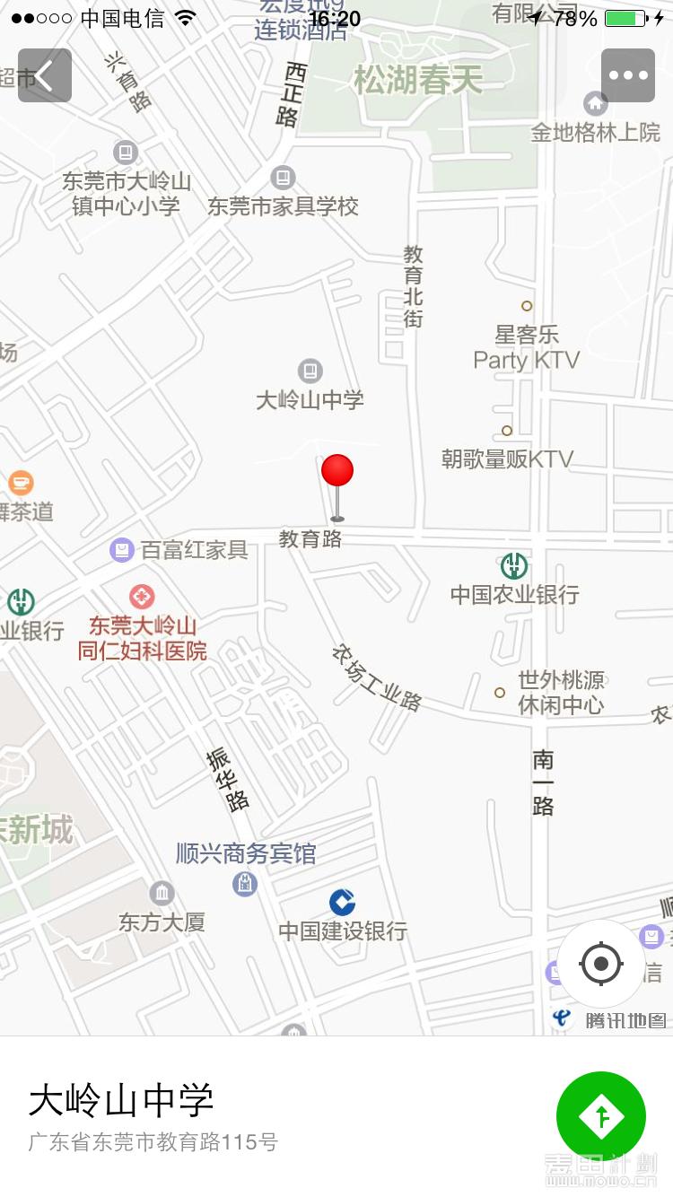 大岭山中学地图.png