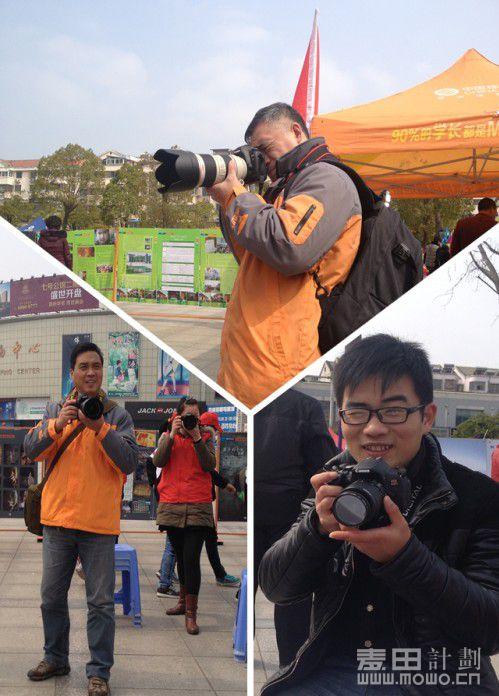 专注的摄影师