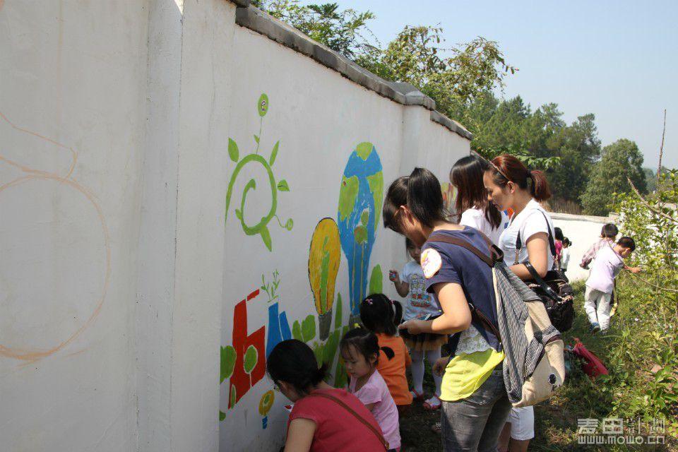 13日描绘山村小学校园文化 彩虹笔 项目活动总结帖 麦田活动